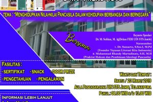 "Kerja Sama UIN Jambi dan Yayasan Literasi Kita Indonesia ""Launching Buku Pancasila dan NKRI"""