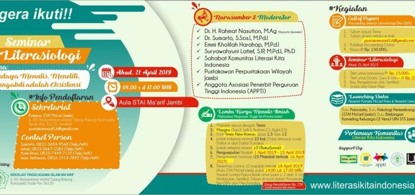 "Ayo Bersama Literasi Kita Indonesia ""Seminar Literasiologi"""
