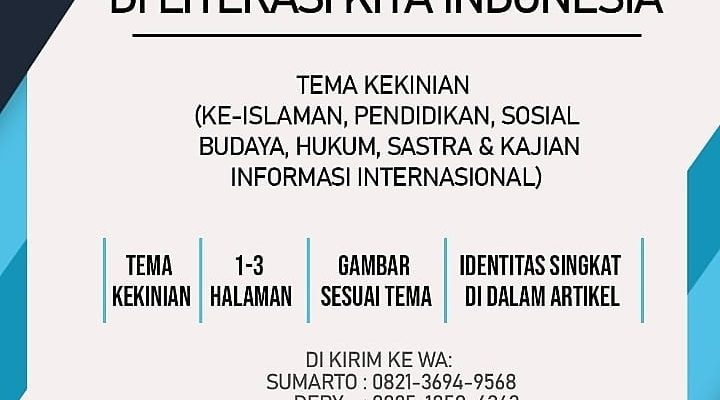 Call For Article,_Artikel Sederhana Kita di Website Literasi Kita Indonesia,_Bersama Membangun Bangsa._