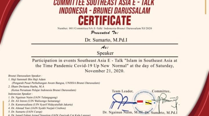 Southeast Asia E Talk._Indonesia – Brunei Darussalam, November 21, 2020._