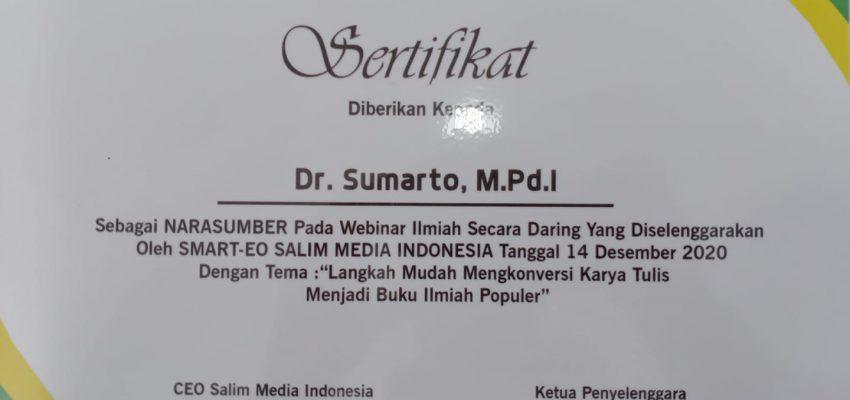 Webinar Langkah Mudah Konversi Karya Tulis Menjadi Buku Ilmiah Populer – Salim Media Indonesia