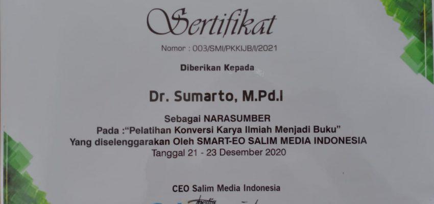 Pelatihan Konversi Karya Ilmiah Menjadi Buku Salim Media Indonesia – Literasi Kita Indonesia