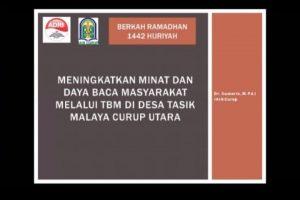 Meningkatkan Minat dan Daya Baca Melalui TBM Tasik Malaya Curup Utara Bengkulu