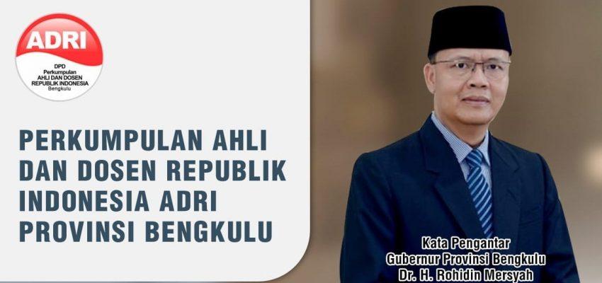 APRESIASI LITERASI KITA INDONESIA UNTUK ADRI TERIMA KASIH GUBERNUR PROVINSI BENGKULU DR. H. ROHIDIN MERSYAH