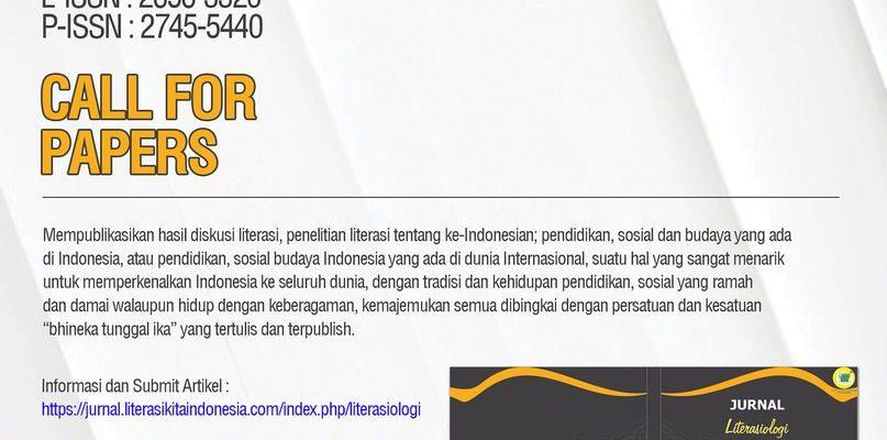 JURNAL LITERASIOLOGI – Jurnal Ilmiah Literasi Indonesia
